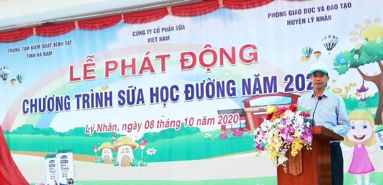 """Tỉnh Hà Nam phát động """"Chương trình Sữa học đường"""" năm học 2020-2021 - Ảnh 1."""