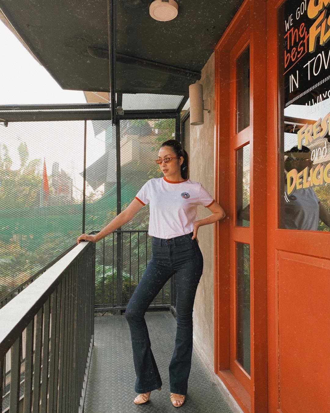 """Mỹ nhân Việt cực chuộng một combo quần dài   giày hack dáng siêu ảo, nàng nấm lùn áp dụng cũng thành """"chân dài tới nách"""" - Ảnh 7."""