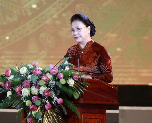 Chủ tịch QH Nguyễn Thị Kim Ngân dự lễ kỷ niệm 990 năm Danh xưng Nghệ An - Ảnh 3.