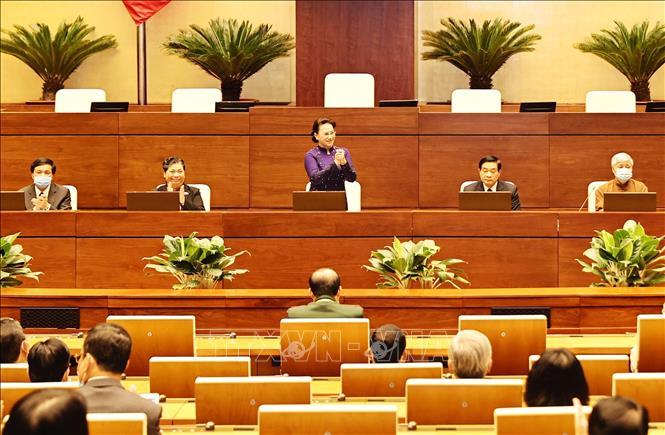 Chủ tịch Quốc hội Nguyễn Thị Kim Ngân gặp mặt đoàn đại biểu dân tộc thiểu số - Ảnh 1.