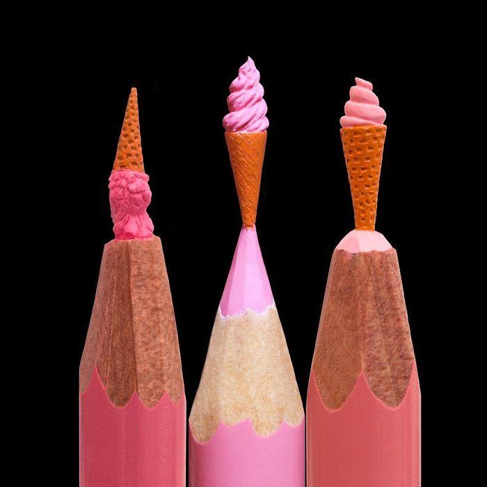 Ngỡ ngàng với loạt tác phẩm điêu khắc bé tí ti trên đầu bút chì - Ảnh 11.