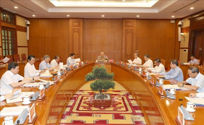 ổng Bí thư, Chủ tịch nước Nguyễn Phú Trọng chủ trì và phát biểu chỉ đạo cuộc họp.