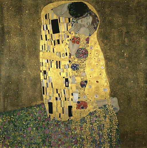 Tác phẩm Nụ hôn của Gustav Klimt
