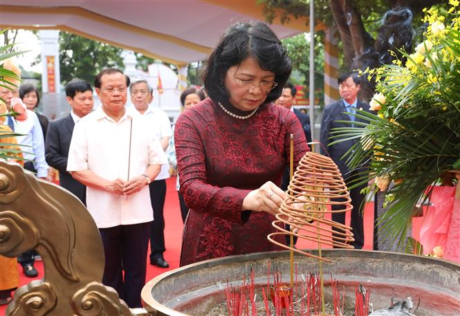 Lễ đón nhận Bằng di tích Quốc gia đặc biệt đền-chùa-đình Hai Bà Trưng - Ảnh 1.