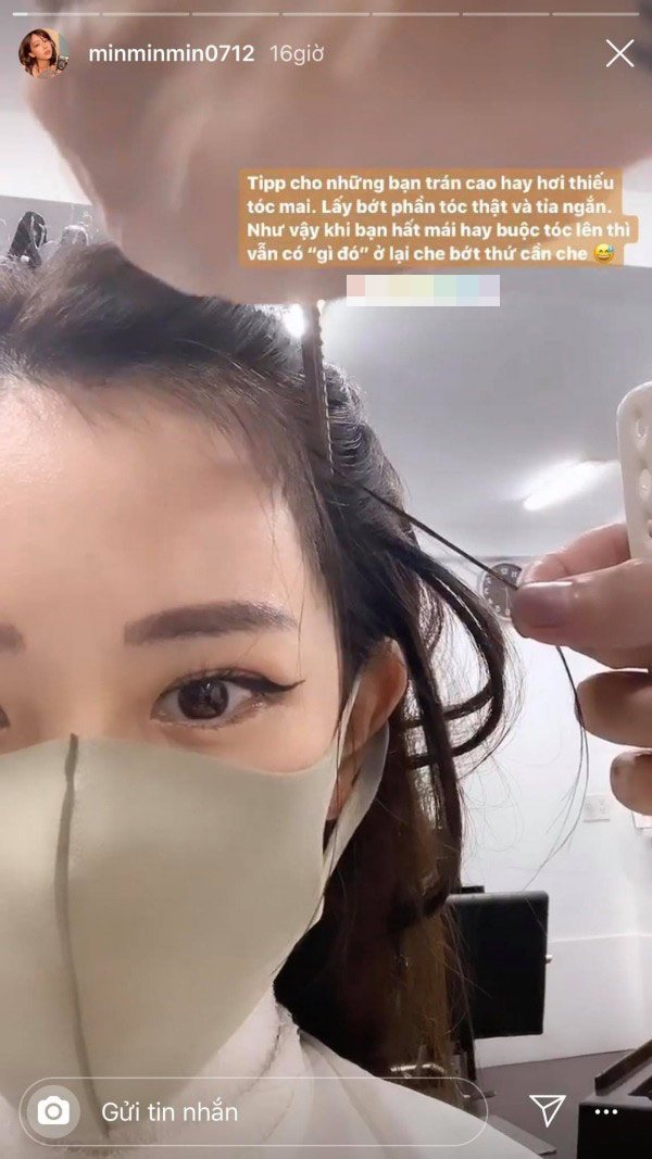 Min ra tay hướng dẫn cách làm tóc cho các nàng trán cao lại thiếu tóc mai siêu đỉnh - Ảnh 2.