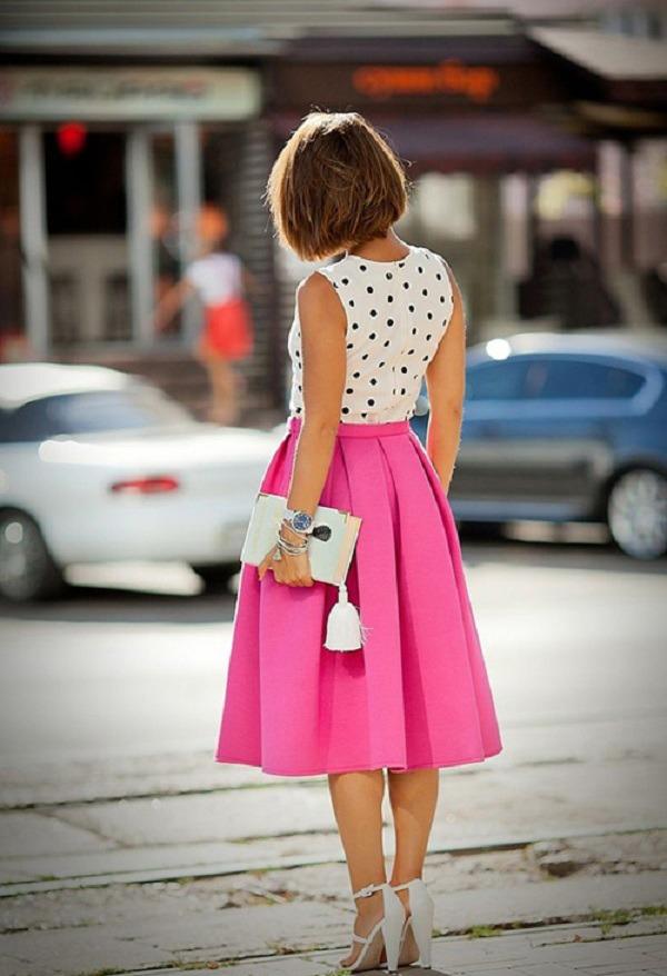 Diện chân váy xòe rất mát mẻ, nhưng nàng cần biết cách chọn để che đi nhược điểm vóc dáng - Ảnh 13.