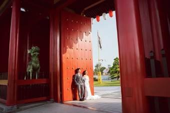 Ngất ngây bộ ảnh cưới đẹp như mơ tại vườn Nhật Bản Vinhomes Smart City - Ảnh 1.