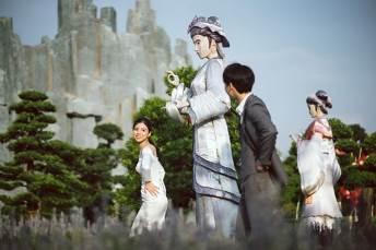 Ngất ngây bộ ảnh cưới đẹp như mơ tại vườn Nhật Bản Vinhomes Smart City - Ảnh 5.