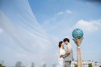 Ngất ngây bộ ảnh cưới đẹp như mơ tại vườn Nhật Bản Vinhomes Smart City - Ảnh 11.