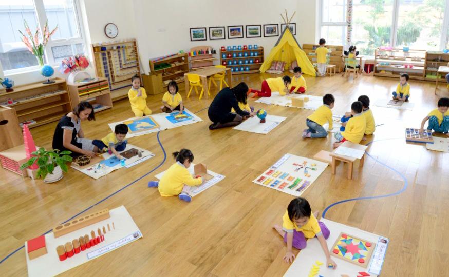 """Review 4 trường mầm non xịn xò tại Hà Nội áp dụng phương pháp Montessori, dành cho bố mẹ đang chuẩn bị cho con """"đi bộ đội""""  - Ảnh 9."""