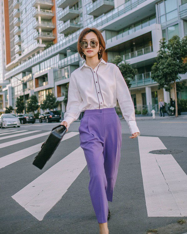 Bắt trend màu tím, nàng công sở lưu ngay những công thức phối đồ này để theo kịp xu hướng - Ảnh 13.