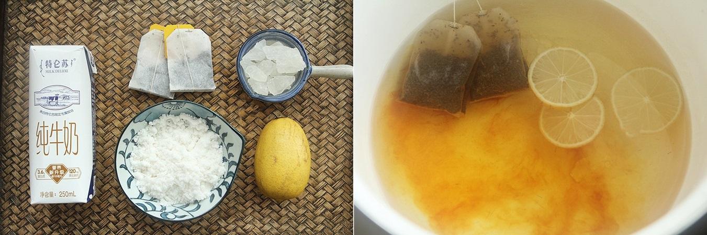 Sữa thạch trà chanh thơm mát mùa hè - Ảnh 1.