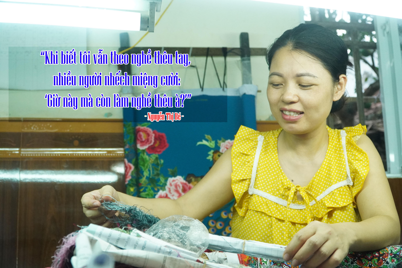 Lận đận số phận của những 'tay kim' làng nghề thêu tay cổ truyền Minh Lãng - Ảnh 3.
