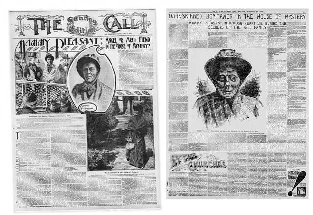 Một số bài báo viết về bà Pleasant trên tờ The Call và The San Francisco Call