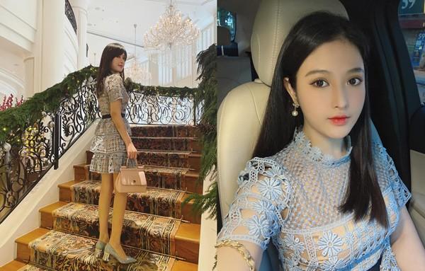 Em gái Huyền Baby đẹp ngọt ngào, mê diện váy xòe như công chúa - Ảnh 7.