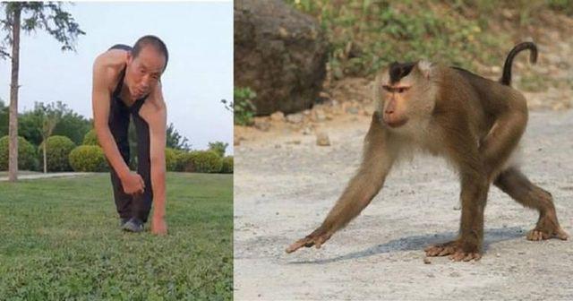 Người đàn ông 30 năm đi bộ bằng cả 4 chi, leo trèo như khỉ vì lý do đặc biệt - Ảnh 1.
