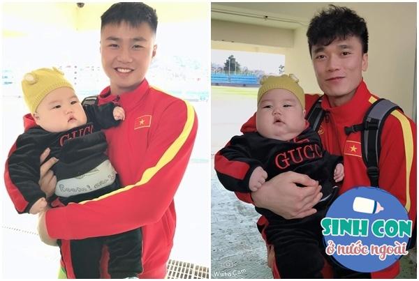 9X Việt sinh con với chồng Hàn, bé ra đời được cả dàn cầu thủ U23 bế - Ảnh 9.
