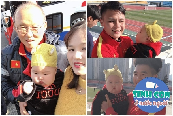 9X Việt sinh con với chồng Hàn, bé ra đời được cả dàn cầu thủ U23 bế - Ảnh 8.