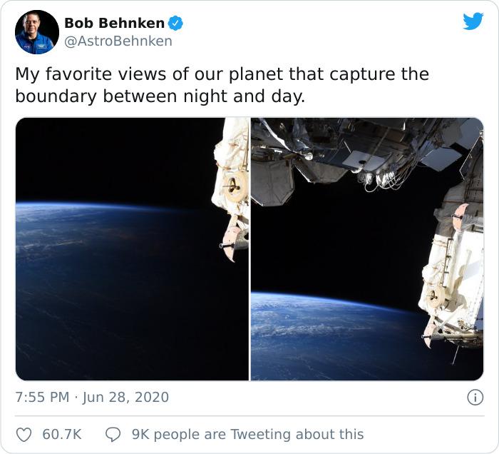 Phi hành gia NASA chia sẻ hình ảnh mãn nhãn về ranh giới ngày và đêm trên trái đất nhìn từ vũ trụ - Ảnh 1.