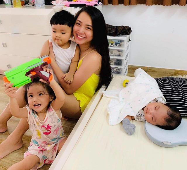 3 năm sinh liền 3 con, Hải Băng khoe eo thon vẫn hở gen nịt bụng - Ảnh 7.