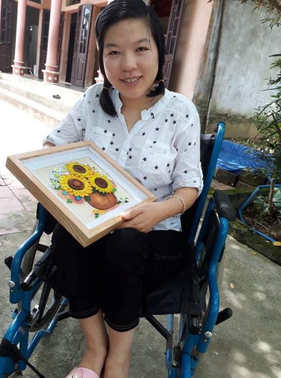 Chuyện về cô gái 29 tuổi ngồi xe lăn, cả thanh xuân gửi hồn vào những bức tranh giấy - Ảnh 10.