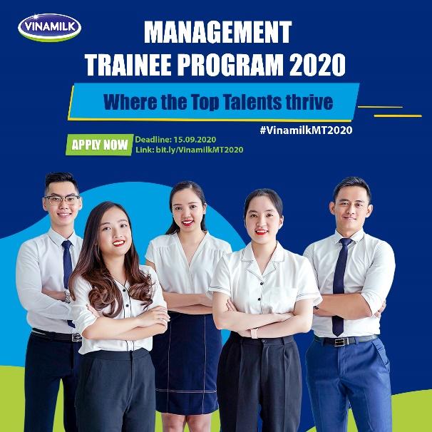 """Chương trình """"Quản trị viên tập sự Vinamilk 2020"""" sẽ chính thức khởi động từ ngày 1.8.2020 và hạn chót nhận hồ sơ ứng tuyển là 15.9.2020"""