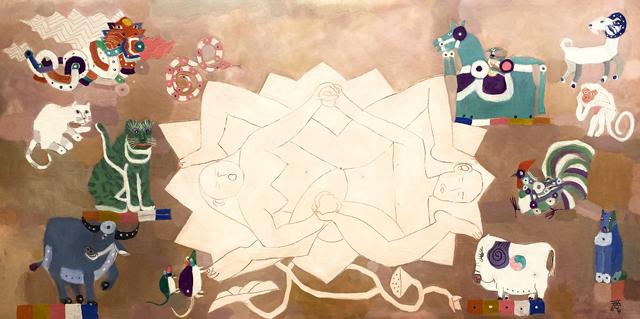 """""""Tuổi đời"""" - tranh sơn dầu của Đặng Xuân Hòa"""