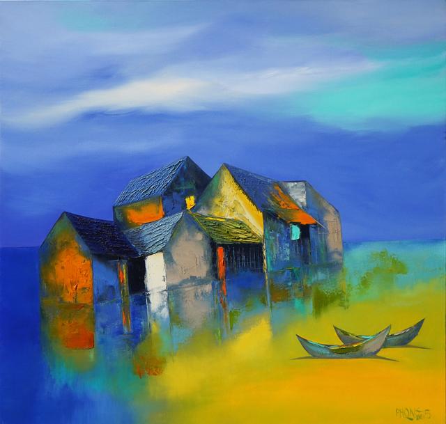 """""""Miền yêu thương"""" - tranh sơn dầu của Đào Hải Phong"""