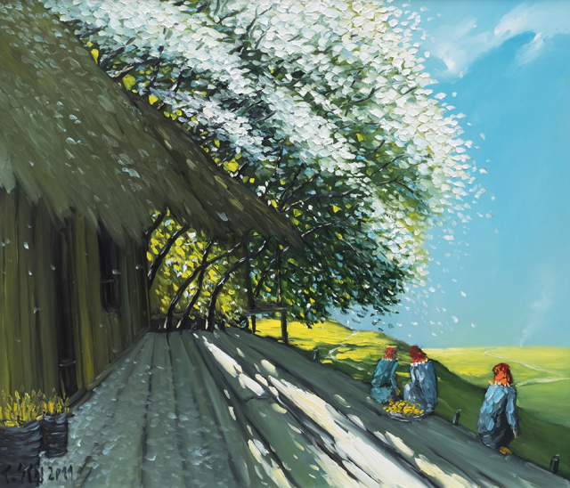"""""""Chốn bình yên"""" - tranh sơn dầu của Lê Thanh Sơn"""