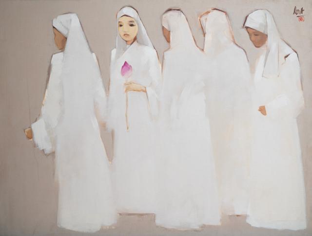"""""""Ni sư"""" - tranh sơn dầu của Nguyễn Thanh Bình"""