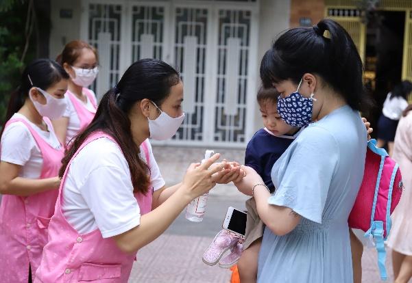 Các trường mầm non trên địa bàn TP. Đà Nẵng đón học sinh quay lại trường ngày đầu tiên vào hôm 21/9 vừa qua