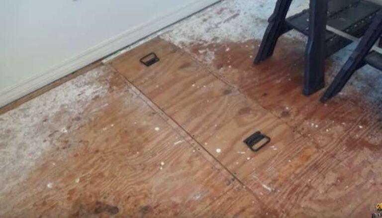 Nghe âm thanh phát ra từ miếng ván sàn bằng gỗ, người phụ nữ gọi điện cầu cứu mới phát hiện thứ không tưởng bên dưới - Ảnh 2.