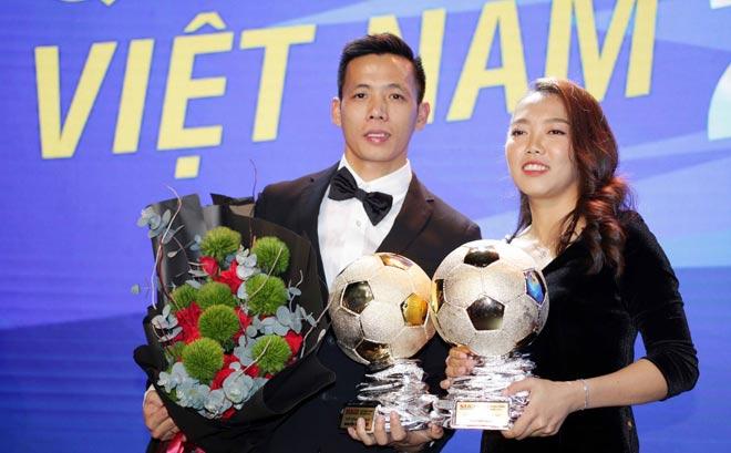 Giải Quả bóng Vàng 2020 được trao cho Văn Quyết và Huỳnh Như
