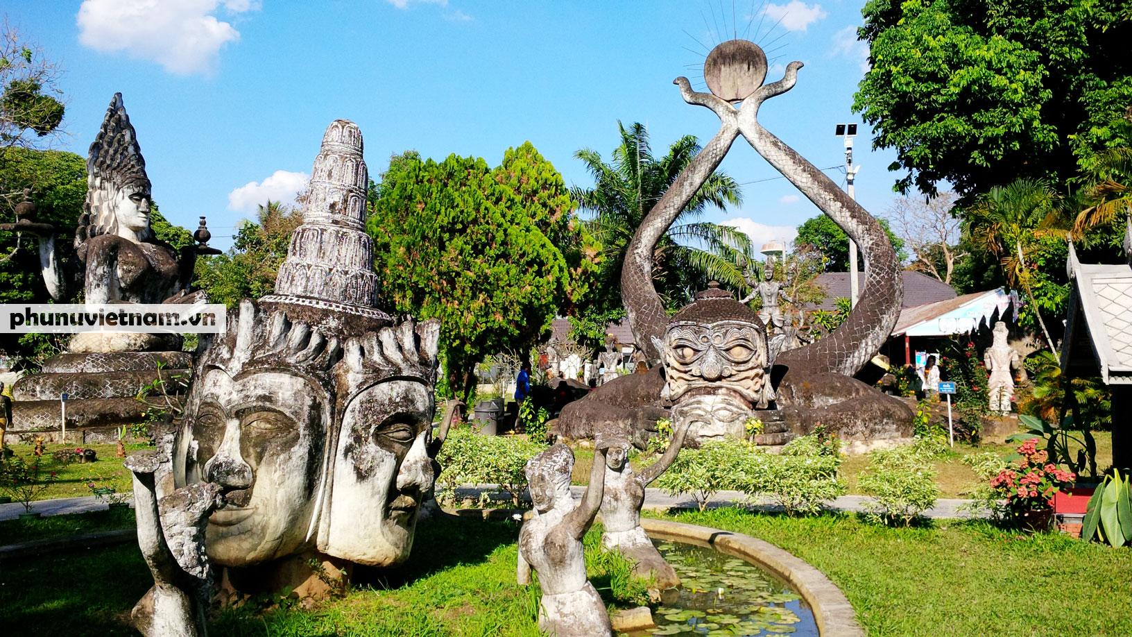 Độc đáo những bức tượng rắn trong các ngôi chùa ở Thủ đô Viêng Chăn - Ảnh 10.