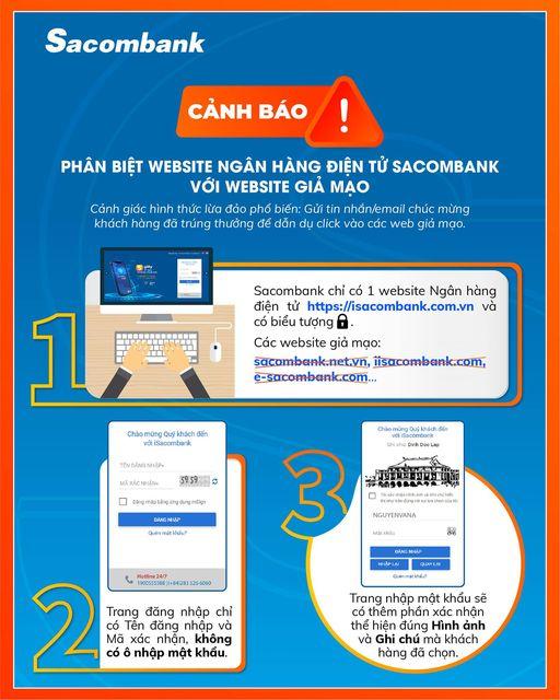 Cảnh báo của ngân hàng Sacombank