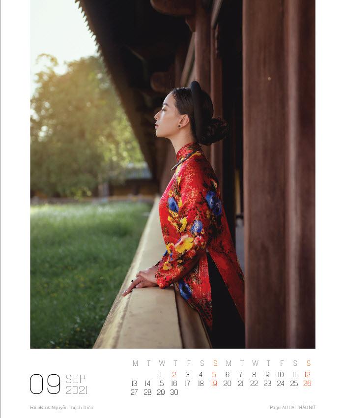 Lịch ảnh Áo dài Thảo Nữ ghi lại vẻ đẹp rạng ngời của phụ nữ và cảnh trí Việt Nam - Ảnh 10.