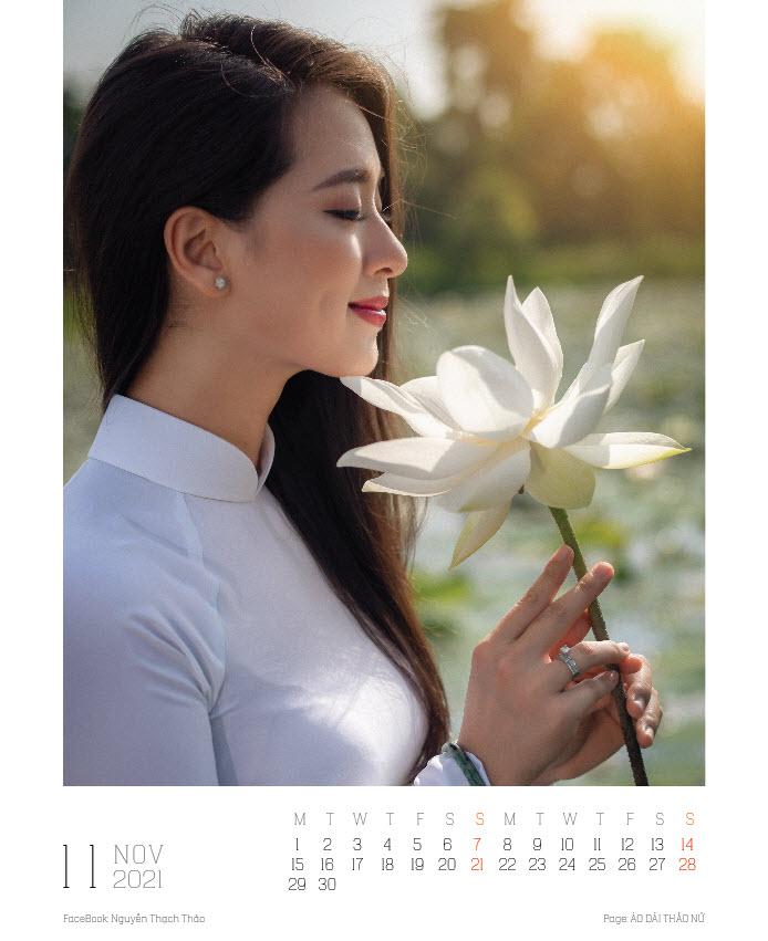 Lịch ảnh Áo dài Thảo Nữ ghi lại vẻ đẹp rạng ngời của phụ nữ và cảnh trí Việt Nam - Ảnh 12.