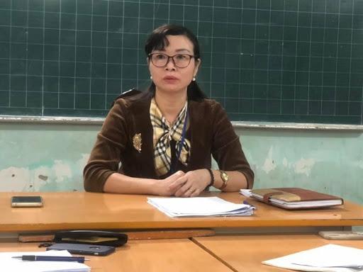 Cô Nguyễn Thị Quyên - Hiệu trưởng Trường Tiểu học Sài Sơn B phủ nhận những lời tố cáo của giáo viên.