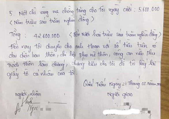 Chính quyền thông tin về vụ chồng đòi tiền vợ sau ly hôn ở Thái Bình - Ảnh 2.
