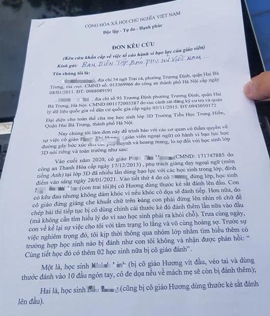 Đề nghị chuyển hồ sơ vụ cô giáo Trường tiểu học Trung Hiền đánh học sinh sang cơ quan điều tra - Ảnh 1.