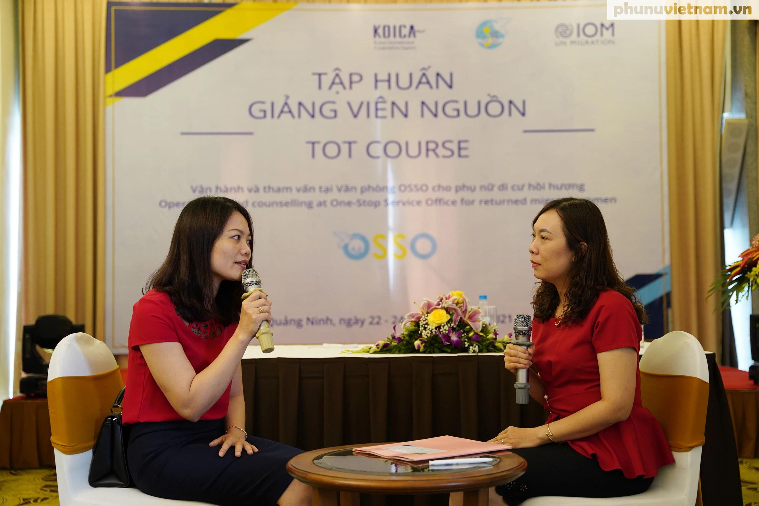 Cán bộ Hội LHPN ở 5 tỉnh, thành phố tham gia tập huấn về tham vấn cho phụ nữ di cư hồi hương - Ảnh 3.