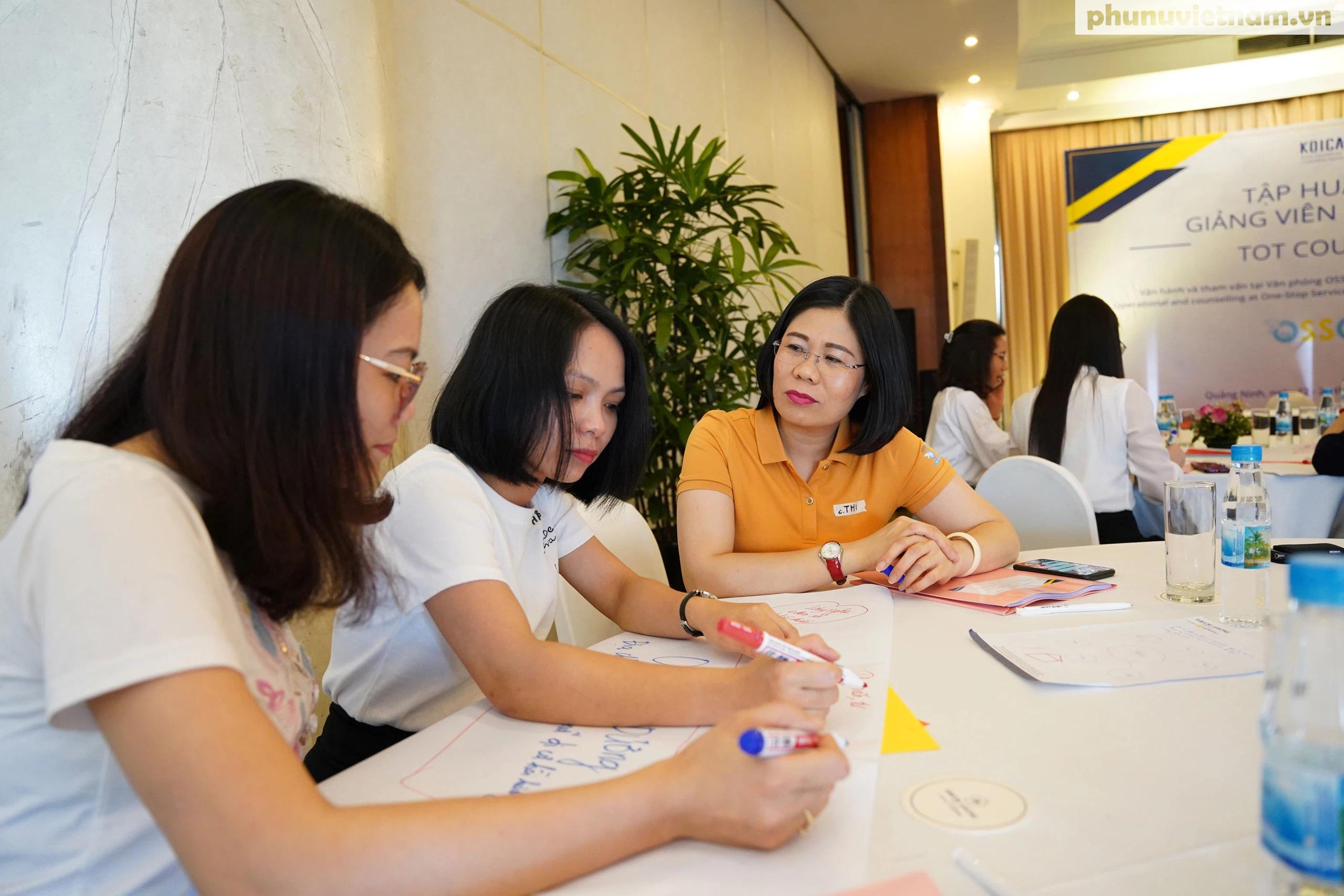 Cán bộ Hội LHPN ở 5 tỉnh, thành phố tham gia tập huấn về tham vấn cho phụ nữ di cư hồi hương - Ảnh 7.