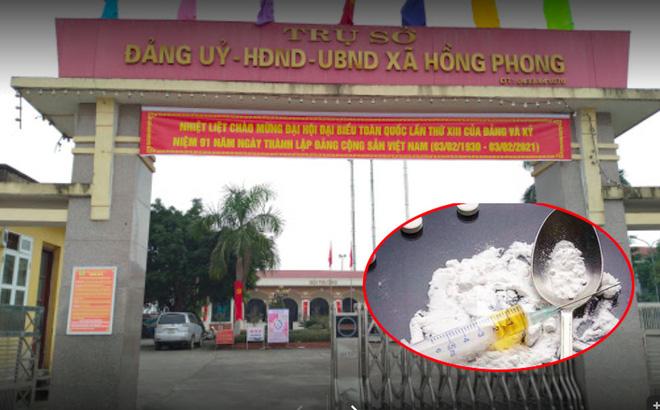 Trụ ở UBND xã Hồng Phong - nơi ông Phạm Minh Công giữ chức Phó Chủ tịch UBND