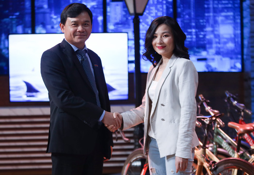 Shark Phú và người gọi vốn tại chương trình Shark tank Vietnam - nguồn NSX