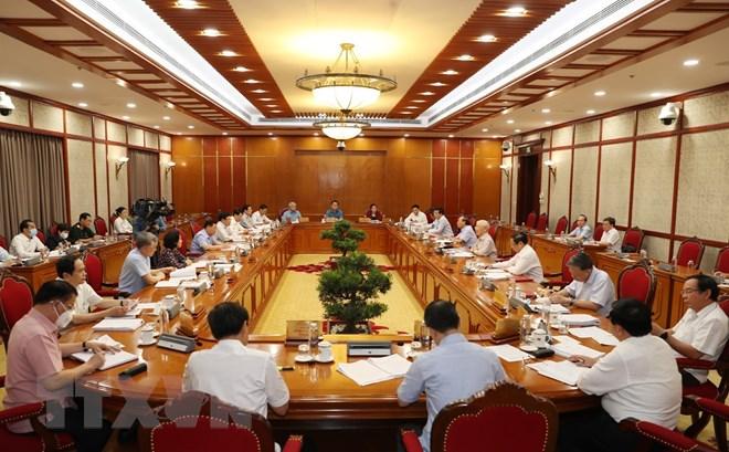 Tổng Bí thư: Toàn hệ thống chính trị tập trung cao nhất cho phòng, chống dịch COVID-19 - Ảnh 1.