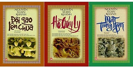 """Bộ ba tiểu thuyết văn hóa lịch sử """"Đội gạo lên chùa"""", """"Hồ Quý Ly"""", """"Mẫu Thượng ngàn"""" của nhà văn Nguyễn Xuân Khánh"""