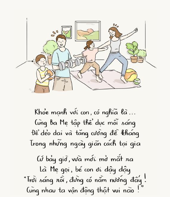 """""""Khỏe mạnh là gì?"""" và những câu trả lời đặc biệt của con trẻ trong mùa dịch - Ảnh 1."""