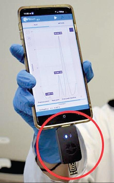 Thiết bị kết nối điện thoại phát hiện nhanh nhiễm trùng - Ảnh 1.