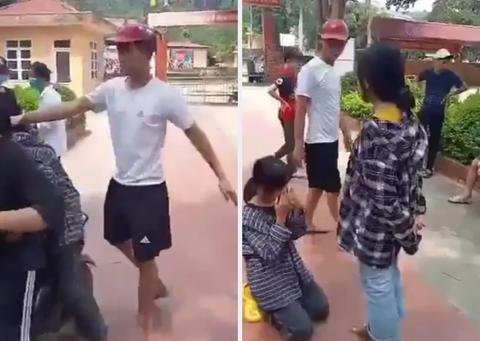 Nữ sinh ở Thanh Hóa bị nam thanh niên đánh liên tiếp giữa sân trường - Ảnh 1.
