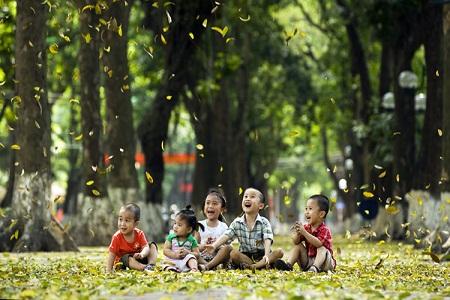 Mùa lá rụng nhớ một thời tuổi thơ trong trẻo - Ảnh 1.